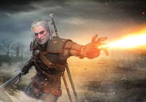 Geralt of Rivia by AnubisDHL