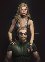 I2: Black Canary and Green Arrow by AnubisDHL