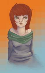 .a red head. by voltafiish