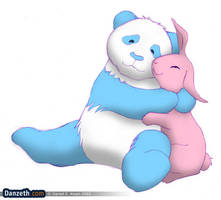 Panda and bunny by Danzeth
