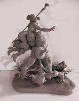 Teela Beastman Diorama by skinnydevil
