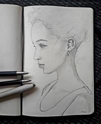 Girl with earrings by IamUman