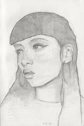 Girl with cateye by IamUman