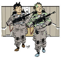 Stantz and Venkman. by timpu