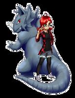 YCH - IlluEule and Rhydon by Hybrid-Dragoness