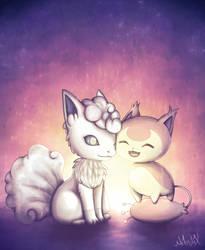 [Pokemon] Skitty and Vulpix by Nekodox