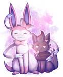 [Pokemon] Sylveon and Zorua by Nekodox