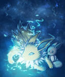 [Pokemon] Jolteon and Eevee by Nekodox