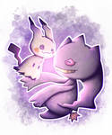 [Pokemon] Mimikyu + Banette by Nekodox