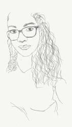 Glass girl sketch  by 1drelopes
