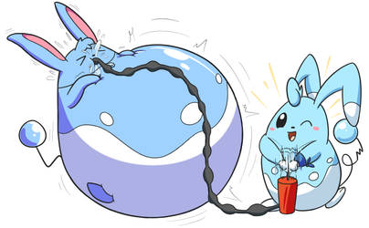 Commission Inflated Azumarill 3 By Selphy6 On Deviantart
