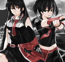 Akame and Kurome by Fitz2013