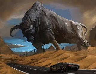 Lamborghini Reventon racetrack! by latent-talent