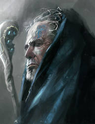 Old mage. portrait. by latent-talent