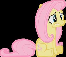 Sad Fluttershy by midnite99