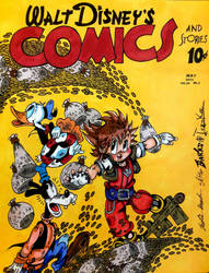 Walt Disney's Comics And Stories: Sora in Duckburg by InsaneAsylum123