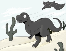run t-rex, run by dratini12