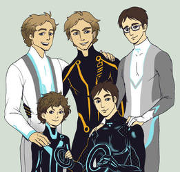 Tron family by LadyDeadPooly
