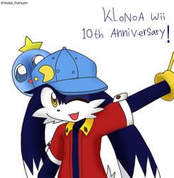 Klonoa Wii 10th Anniversary! by malahayata