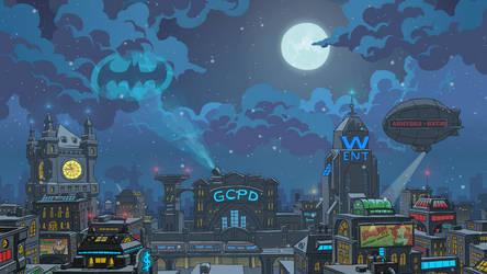 Batmetal Forever - Gotham City by JackBlin