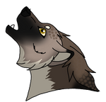Miki howling by Wolfiish-ARPG