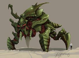 Tyrant Guard Alpha Warhammer 40k Concept by ValKeish-Bleuriem