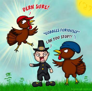The Disaster Trio vs Thanksgiving by Segimaru