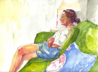 My Mum color by captaincoconutz