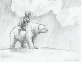 Lyra and Iorek by captaincoconutz