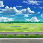 Grass fields along Mt. Arayat by Natheart17