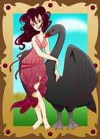 Rue and the Swan by chiriku