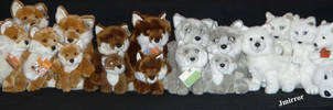 Little WWF Plush Fox Family by Jack-Mirror