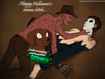 Happy Halloween's Dream (Freddy x Michael Myers) by Sapphiresenthiss