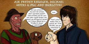 ASK Freddy Krueger, Michael Myers and The Pups! by Sapphiresenthiss