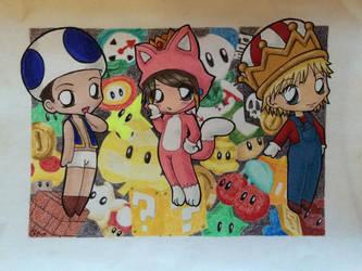 Mario 3D World Chibis by ryamcshme