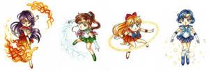 Sailor Chibis by MansdefenderOakgrove