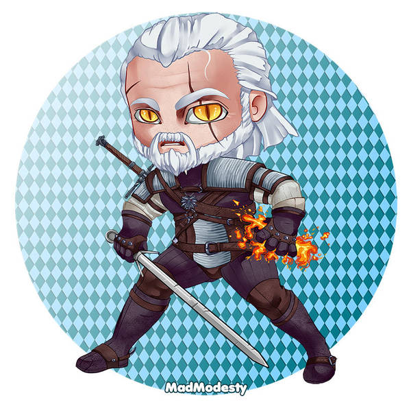 Geralt of Rivia - The Witcher 3, Wild Hunt by MadModesty