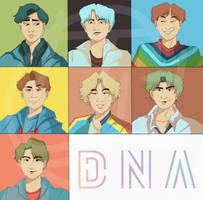 BTS - DNA by axolotlsketches
