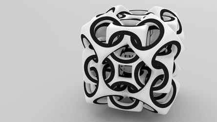 Woven Cube by Konimotsinui