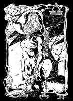 Commission - Valeria Marini, Clan Salubri by IvanValladares