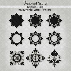 Ornament Vector by PinkOnHead by pinkonhead