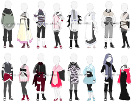 Adoptable outfits , 2 left! by zombie-adoptables
