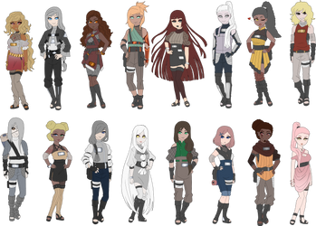 Metal themed collab adoptables 7/16 by zombie-adoptables