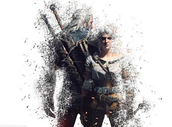Geralt and Ciri from my Shattered Series on tumblr by VoidMessenger