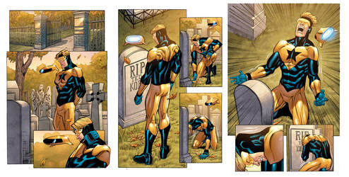 Booster Gold 39 3-pg sequence by DustinYee