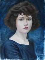Oil Paints Alla Prima Portrait Betty Compson by forestdino