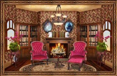 Victorian Reading Room by OokamiKasumi