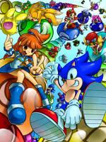 Sonic and Puyopuyo by raseinn