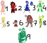 8 Gems and a Diamond 3 adopt open by Brownie-Doptables