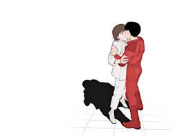 Kei and Kaneda Kiss by BonesMa